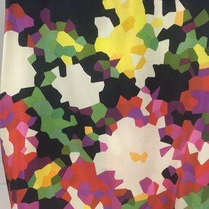 Theory Tops - Theory Mahiro Navy Pixel Floral Top